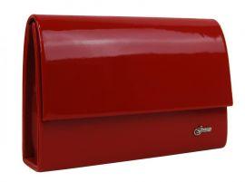 Červené lakované dámské psaníčko SP101 GROSSO E-batoh