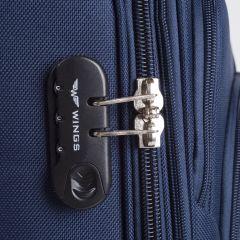 Cestovní kufr WINGS 1706 DOUBLE GREEN malý S E-batoh