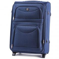 Cestovní kufr WINGS 6802 BLUE střední M