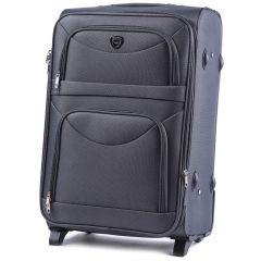 Cestovní kufr WINGS 6802 GREY střední M