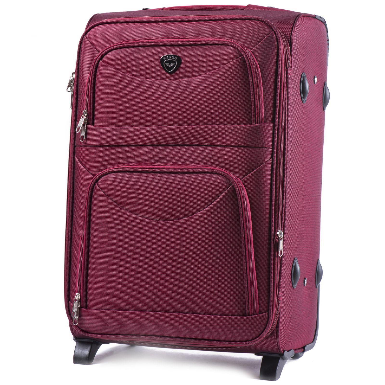 Cestovní kufr WINGS 6802 RED velký L E-batoh