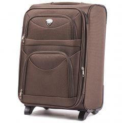 Cestovní kufr WINGS 6802 COFFEE malý S