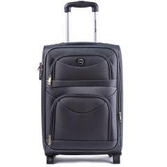 Cestovní kufr WINGS 6802 GREY malý S E-batoh