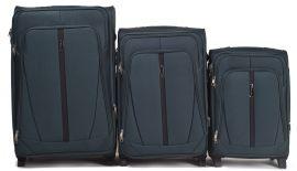 Sada 3 textilních kufrů WINGS 1706 DOUBLE GREEN L/M/S