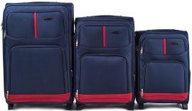 Sada 3 textilních kufrů WINGS 206 BLUE L/M/S