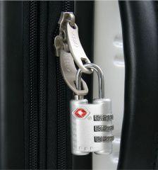 Visací kódový zámek TSA - stříberná E-batoh