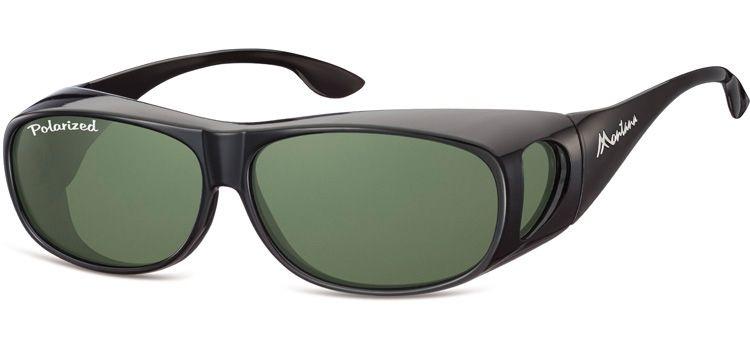 Polarizační brýle Montana FO2D na dioptrické brýle se zelenou čočkou v pouzdru