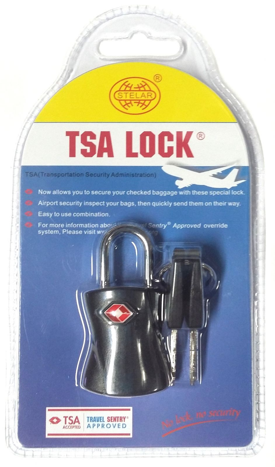 Visací kódový zámek TSA - černá