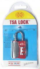 Visací kódový zámek TSA - červená