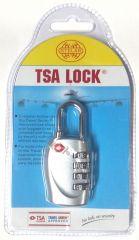 Visací kódový zámek TSA - stříberná