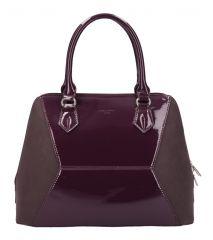 Vínová nadčasová dámská kabelka do ruky David Jones 5832-3