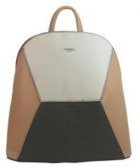 Meruňkově hnědý dámský elegantní batůžek 4187-TS