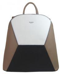 Přírodně hnědý dámský elegantní batůžek 4187-TS