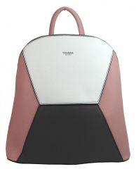 Růžový dámský elegantní batůžek 4187-TS