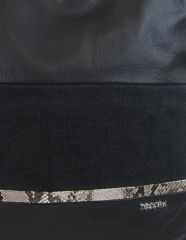 Velká černá dámská kabelka s lanovými uchy 4543-BB TESSRA E-batoh