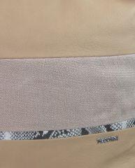 Velká tělově hnědá dámská kabelka s lanovými uchy 4543-BB TESSRA E-batoh