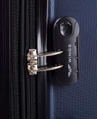Cestovní kufry sada WINGS 147 ABS DARK GREY L,M,S E-batoh