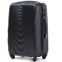 Cestovní kufr WINGS 304 ABS BLACK velký L