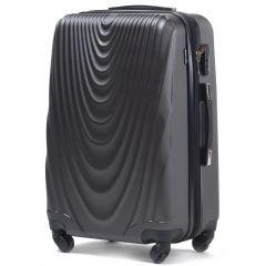 Cestovní kufr WINGS 304 ABS DARK GREY velký L