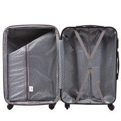 Cestovní kufr WINGS 304 ABS SILVER BLUE malý S E-batoh