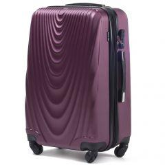 Cestovní kufr WINGS 304 ABS BURGUNDY střední M