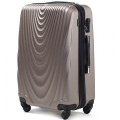 Cestovní kufr WINGS 304 ABS CHAMPAGNE střední M