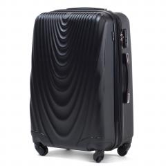 Cestovní kufr WINGS 304 ABS BLACK malý S