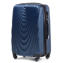 Cestovní kufr WINGS 304 ABS BLUE malý S
