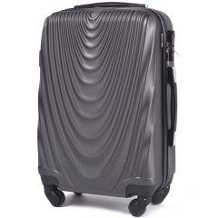 Cestovní kufr WINGS 304 ABS DARK GREY malý S