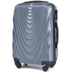 Cestovní kufr WINGS 304 ABS SILVER BLUE malý S