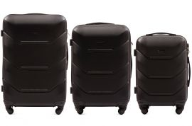Cestovní kufry sada WINGS 147 ABS BLACK L,M,S