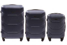 Cestovní kufry sada WINGS 147 ABS BLUE L,M,S