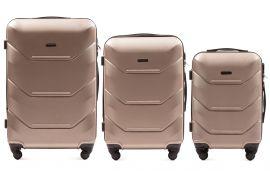 Cestovní kufry sada WINGS 147 ABS CHAMPAGNE L,M,S