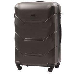 Cestovní kufr WINGS PEACOCK 147 ABS DARK GREY velký  L