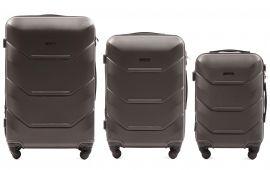 Cestovní kufry sada WINGS 147 ABS DARK GREY L,M,S