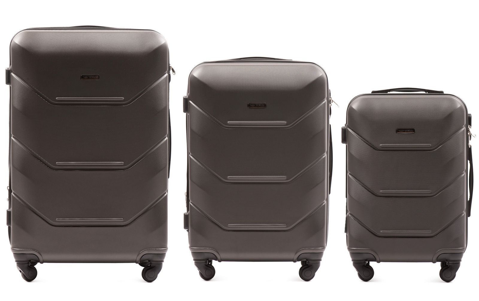 Cestovní kufry sada WINGS 147 ABS DARK GREY