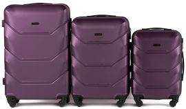Cestovní kufry sada WINGS 147 ABS DARK PURPLE L,M,S