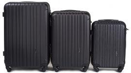 Cestovní kufry sada WINGS 2011 ABS BLACK L,M,S