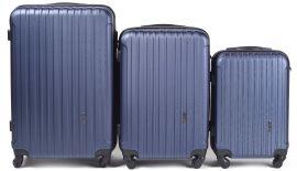 Cestovní kufry sada WINGS 2011 ABS BLUE L,M,S