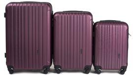 Cestovní kufry sada WINGS 2011 ABS BURGUNDY L,M,S