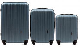 Cestovní kufry sada WINGS 2011 ABS SILVER BLUE L,M,S