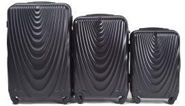 Cestovní kufry sada WINGS 304 ABS BLACK L,M,S
