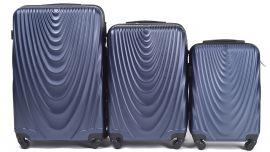Cestovní kufry sada WINGS 304 ABS BLUE L,M,S