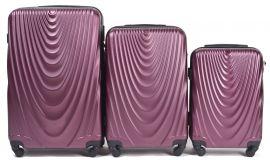 Cestovní kufry sada WINGS 304 ABS BURGUNDY L,M,S