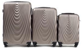 Cestovní kufry sada WINGS 304 ABS CHAMPAGNE L,M,S