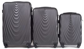 Cestovní kufry sada WINGS 304 ABS DARK GREY L,M,S