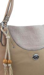 Velká moderní hnědo-béžová dámská kabelka přes rameno 4620-BB BELLA BELLY E-batoh