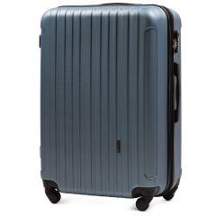 Cestovní kufr WINGS 2011 ABS SILVER BLUE střední M