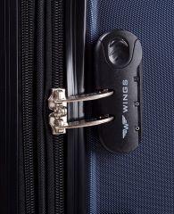 Cestovní kufr WINGS 147 ABS DARK PURPLE malý xS E-batoh