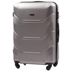 Cestovní kufr WINGS 147 ABS SILVER velký L